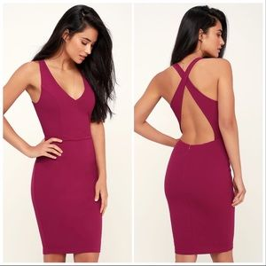 NWT! Lulu's Count the Stars backless bodycon dress